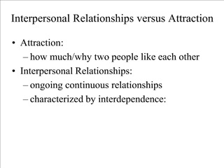 Interpersonal Relationships versus Attraction