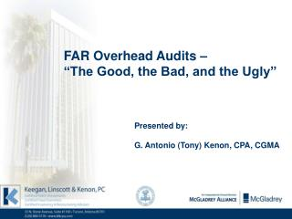 "FAR Overhead Audits – ""The Good, the Bad, and the Ugly"""