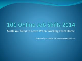 101 Online Job Skills 2014