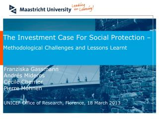 The Investment Case For Social Protection  – Methodological Challenges and Lessons Learnt