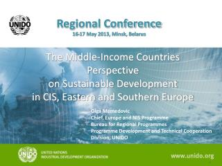 The Middle-Income Countries Perspective  on Sustainable Development  in CIS, Eastern and Southern Europe