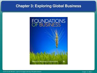 Chapter 3: Exploring Global Business