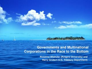 Governments and Multinational Corporations in the Race to the Bottom