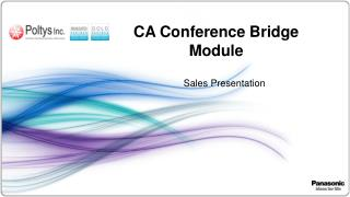 CA Conference Bridge Module