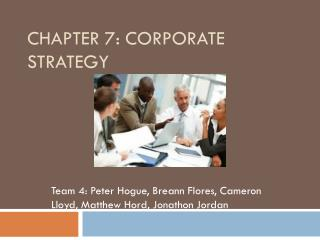 Chapter 7: Corporate Strategy