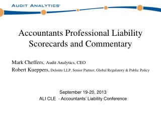 Accountants Professional Liability Scorecards and Commentary