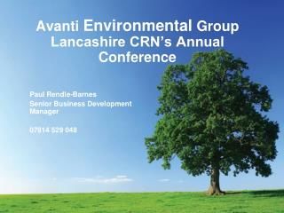 Avanti  Environmental  Group Lancashire CRN's Annual Conference