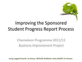 Improving the Sponsored Student Progress Report Process