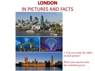 LONDON  IN PICTURES AND FACTS