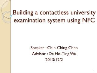 Building a contactless  university examination system  using NFC