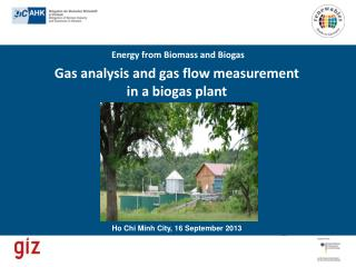 Gas analysis and gas flow measurement  in  a biogas plant