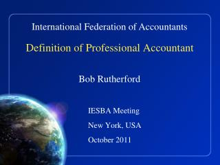 Definition of Professional Accountant