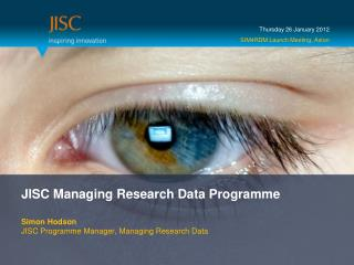 JISC Managing Research Data Programme