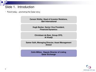 Slide 1.  Introduction