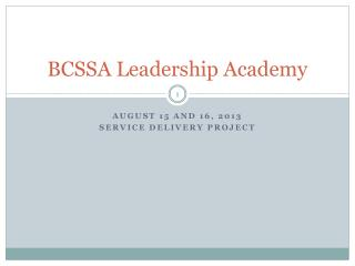 BCSSA Leadership Academy