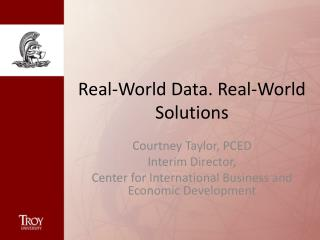 Real-World Data. Real-World Solutions