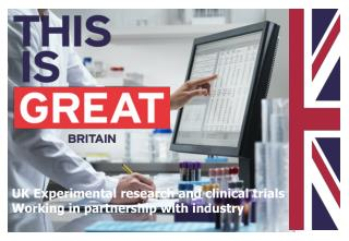 UK Experimental research and clinical trials  Working in partnership with industry