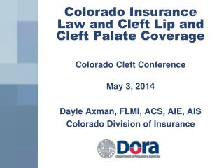 Colorado Insurance Law  and  Cleft Lip and Cleft Palate Coverage