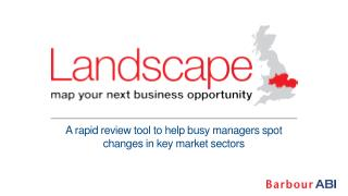 A rapid review tool to help busy managers spot changes in key market sectors