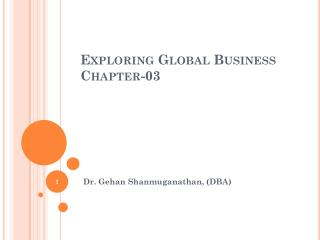 Exploring Global Business Chapter-03