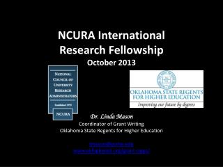NCURA International  Research Fellowship October 2013