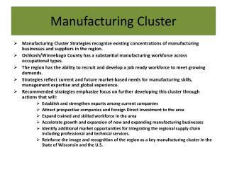 Manufacturing Cluster