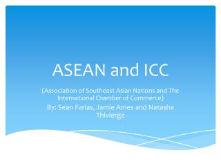 ASEAN and ICC