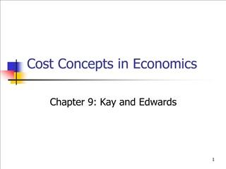 Cost Concepts in Economics