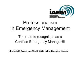 Professionalism  in Emergency Management