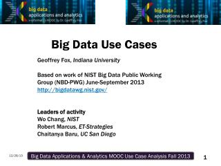Big  Data Use  Cases