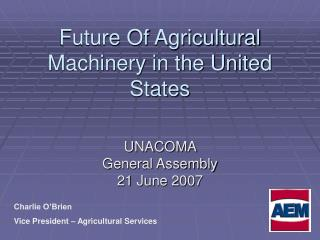 Future Of Agricultural Machinery in the United States