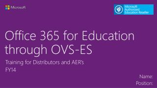 Office 365 for Education through OVS-ES