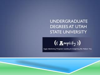 Undergraduate Degrees at Utah State University