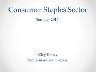 Consumer Staples Sector