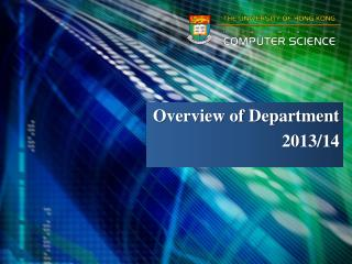 Overview of Department  2013/14