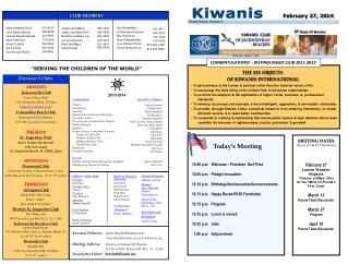 Mailing Address: Kiwanis of Jacksonville Beaches PO Box 50504 Jacksonville