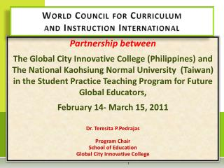 World Council for Curriculum  and Instruction International