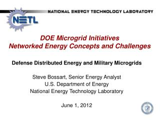 DOE  Microgrid  Initiatives  Networked Energy Concepts and Challenges