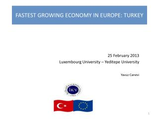 FASTEST GROWING ECONOMY IN EUROPE: TURKEY