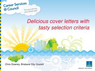 Delicious cover letters with tasty selection criteria