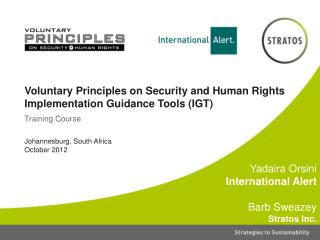 Voluntary Principles on Security and Human Rights Implementation Guidance Tools (IGT)