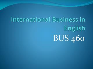 International Business in English