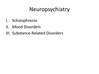 Neuropsychiatry