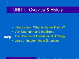 UNIT I:	Overview & History