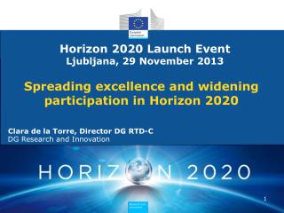 Spreading  excellence and  widening  participation in Horizon 2020