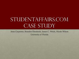Studentaffairs.com Case Study