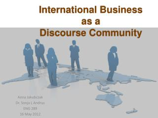 International Business as a Discourse Community