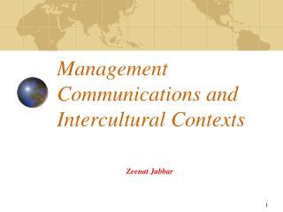 Management Communications and Intercultural Contexts