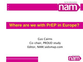 Where are we with PrEP in Europe?