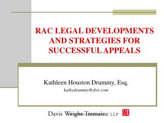 RAC LEGAL DEVELOPMENTS AND STRATEGIES FOR SUCCESSFUL APPEALS